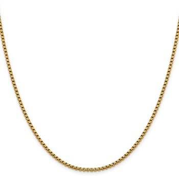 Leslie's 14K 2.4mm D/C Round Box Chain