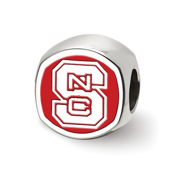 Sterling Silver North Carolina State University NCAA Bead