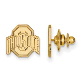 Gold-Plated Sterling Silver Ohio State University NCAA Lapel Pin
