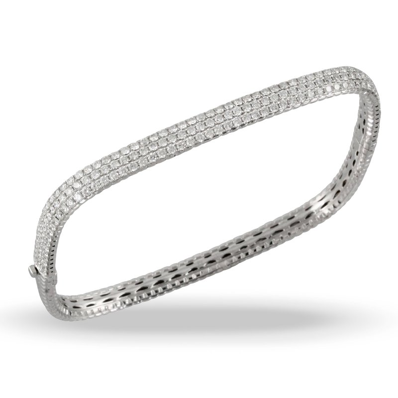 Doves Square Diamond Bangle Bracelet