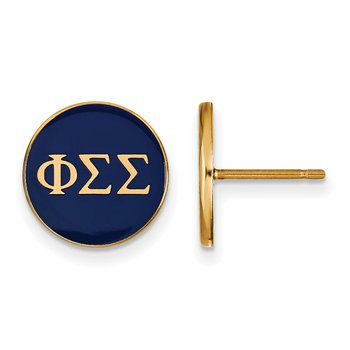 Gold-Plated Sterling Silver Phi Sigma Sigma Greek Life Earrings