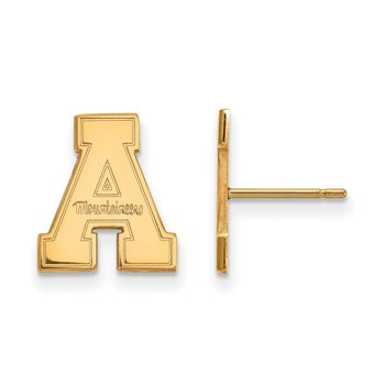 Gold-Plated Sterling Silver Appalachian State University NCAA Earrings