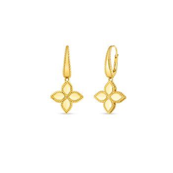 18K GOLD MEDIUM FLOWER DROP EARRING