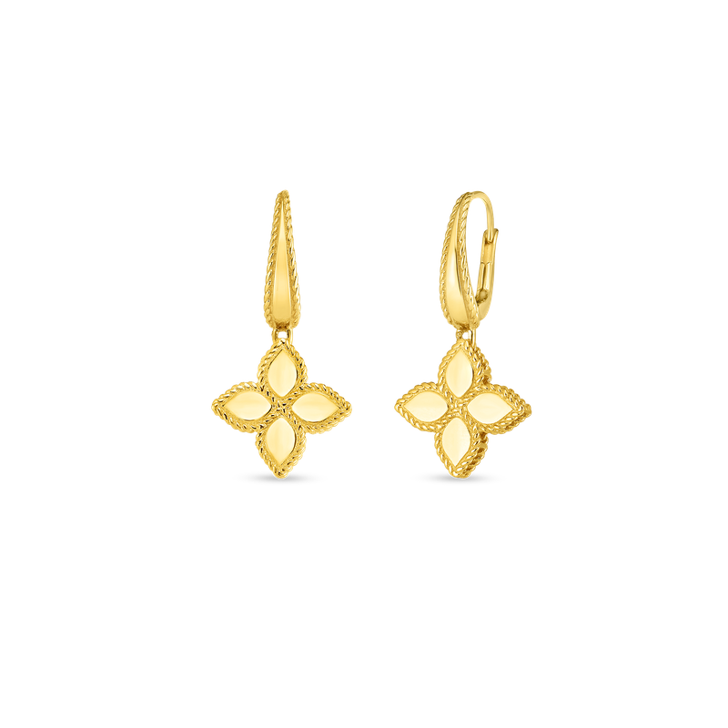 Roberto Coin 18K GOLD MEDIUM FLOWER DROP EARRING