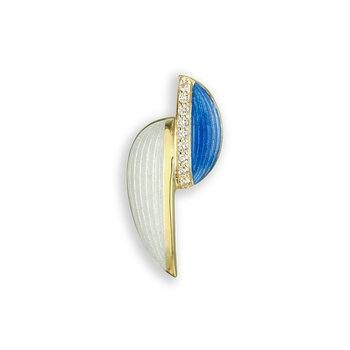 Blue Art Deco Pendant.18K -Diamond