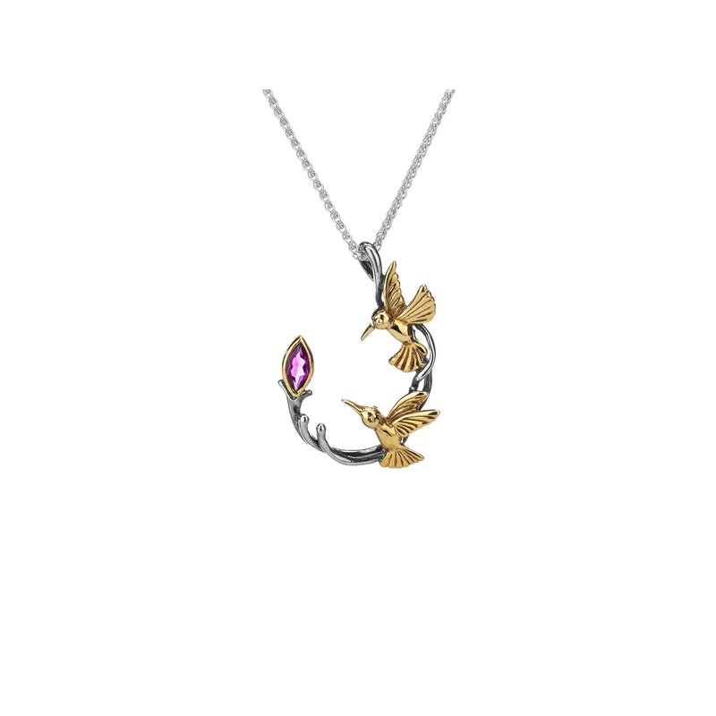 Keith Jack Double Hummingbird Pendant