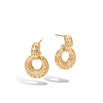 Classic Chain Door Knocker Earring in 18K Gold