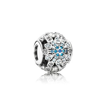 Crystalized Snowflakes, Blue Crystals & Clear CZ