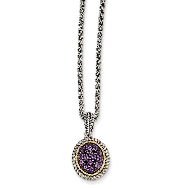 Shey Couture Sterling Silver w/14k Amethyst Necklace