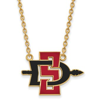 Gold San Diego State University NCAA Necklace