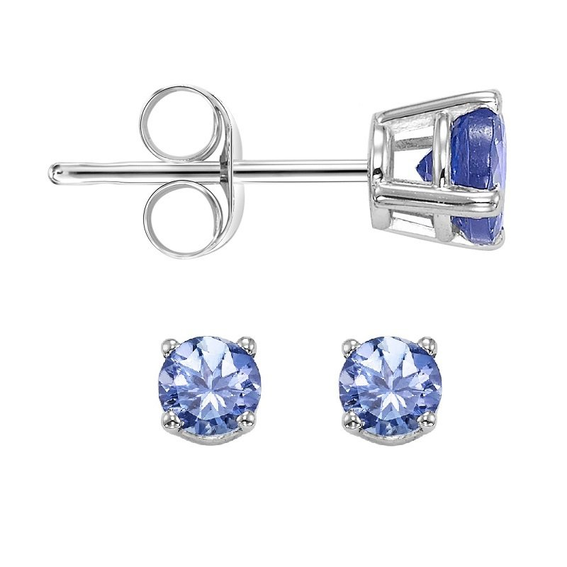 Gemsone 14K Tanzanite Studs 3 mm Rd