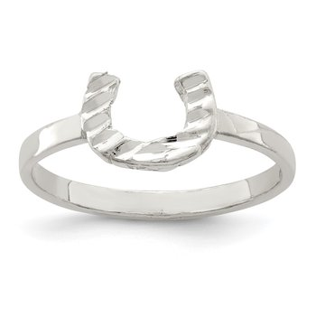 Sterling Silver Horseshoe Ring