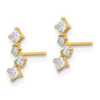 14k Yellow Gold Madi K CZ Post Earrings
