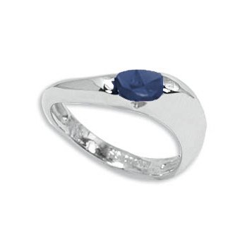Sapphire in Sterling Silver