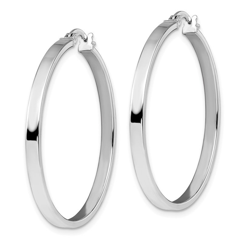 Leslie's Leslie's 14K White Gold Polished Hoop Earrings
