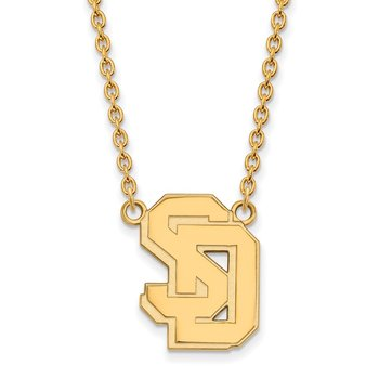 Gold-Plated Sterling Silver University of South Dakota NCAA Necklace