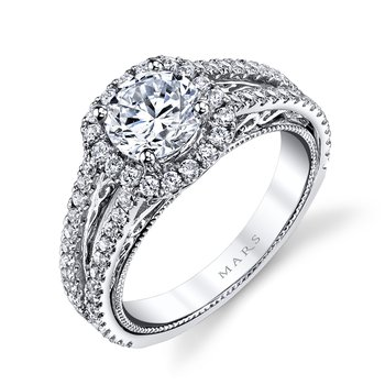 MARS 26084 Diamond Engagement Ring, 0.67 Ctw.