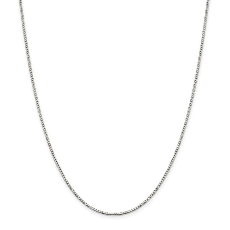 Quality Gold Sterling Silver Rhodium-plated 1.4mm Box Chain