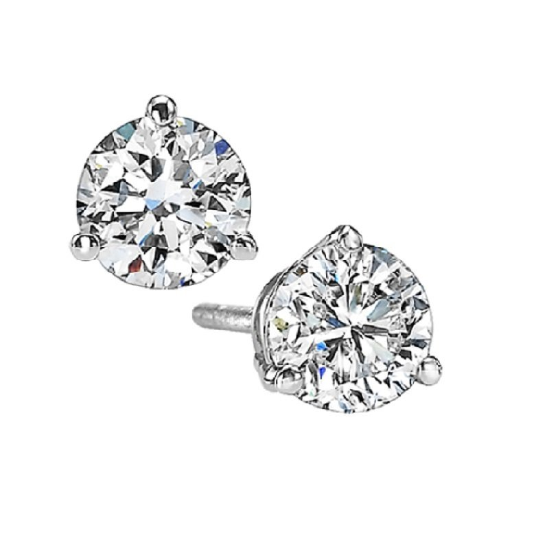 Gems One Diamond Stud Earrings in 18K White Gold (1 ct. tw.) SI2 - G/H