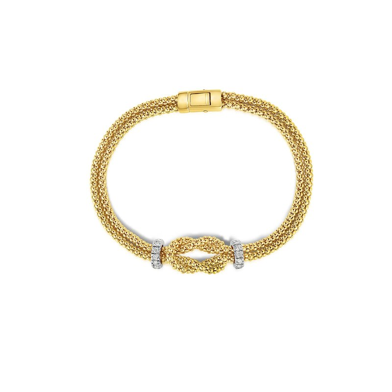 Royal Chain 14K Gold .24ct. Dia Popcorn Bracelet