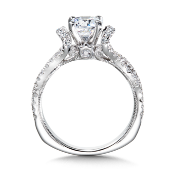 Diamond Engagement Ring Mounting in 14K White Gold (0.46 ct. tw.)