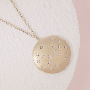 Oh, Starry Night Gold Necklace