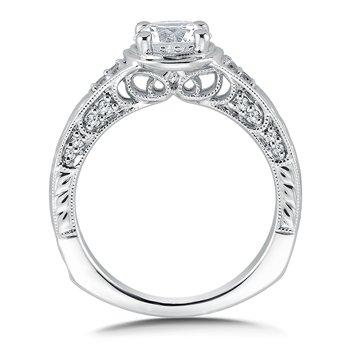 Diamond Engagement Ring Mounting in 14K White Gold (.22 ct. tw.)