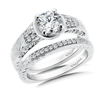 Valina Bridals Diamond Engagement Ring Mounting in 14K White Gold (.22 ct. tw.)