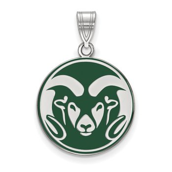 Sterling Silver Colorado State University NCAA Pendant
