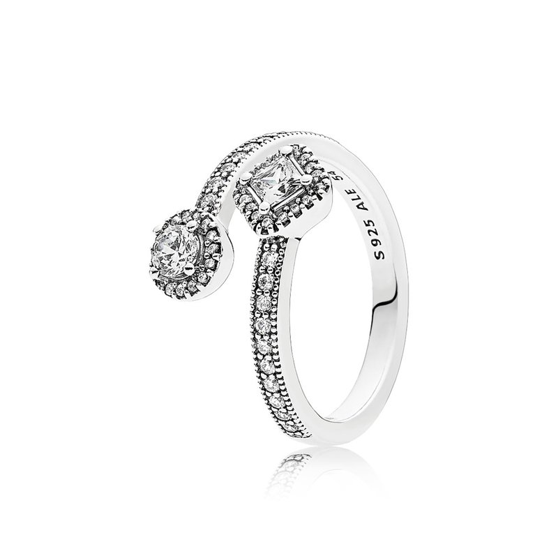 PANDORA Abstract Elegance, Clear Cz
