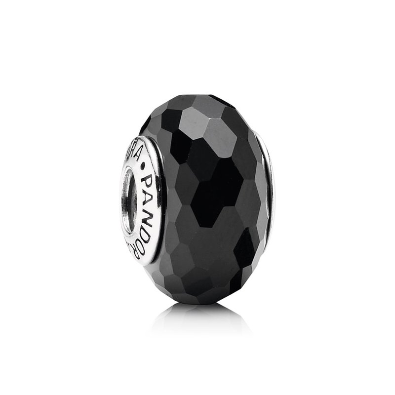 PANDORA Fascinating Black Charm, Murano Glass