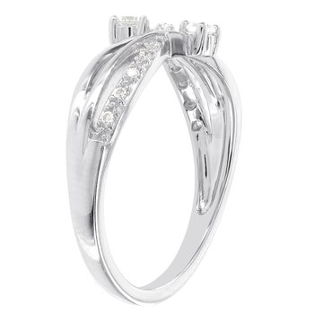 Sterling Silver 1/6ct Diamond Promise Ring