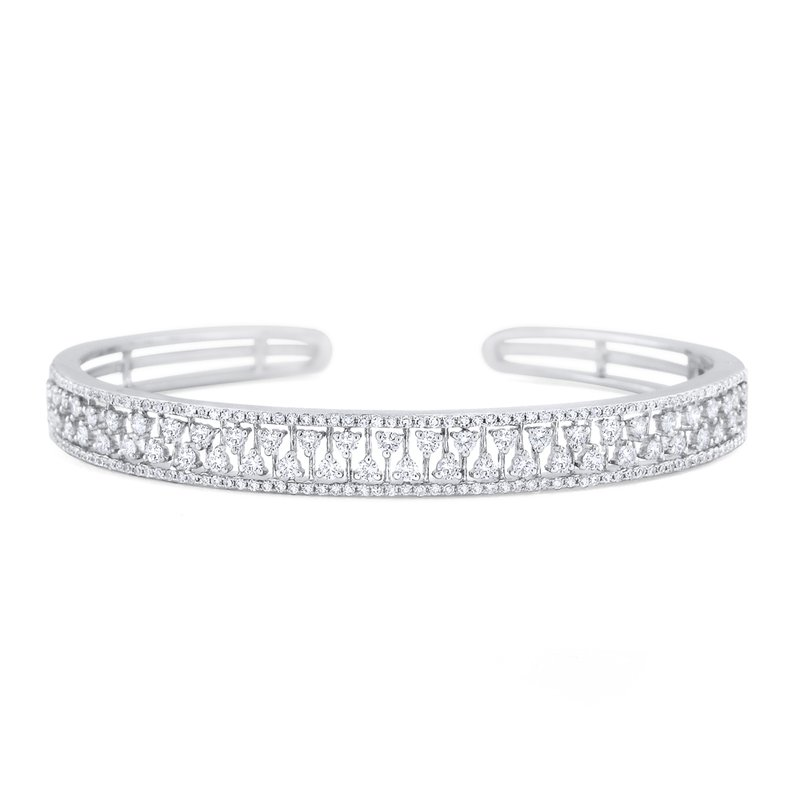 KC Designs 14K Diamond Hinged Cuff Bracelet
