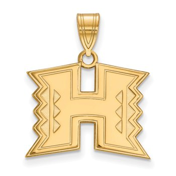Gold-Plated Sterling Silver University of Hawaii NCAA Pendant