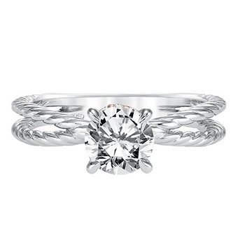 Split Diamond Engagement Semi