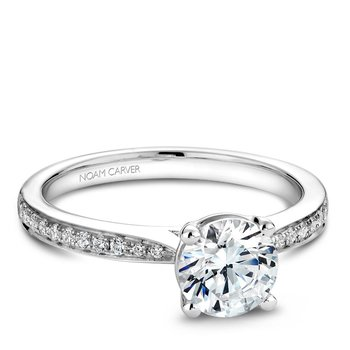 Noam Carver Modern Engagement Ring B018-02A