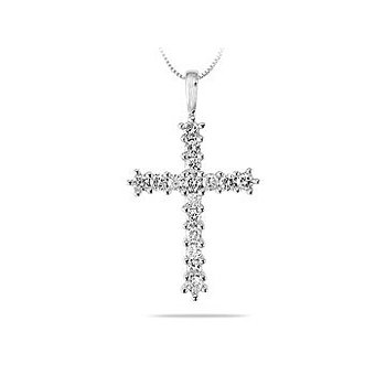 18K WG and Diamond Religous Pendant. This Glorius pendant is adorned with 16 sparkling round brilliant diamonds in prong setting which bring out the.