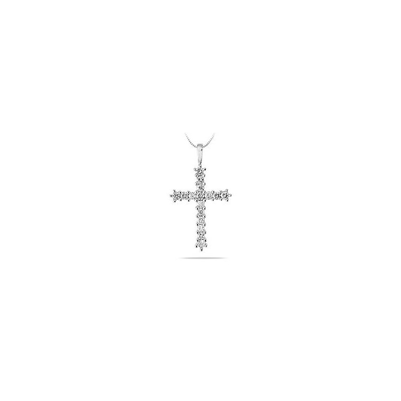 BB Impex 18K WG and Diamond Religous Pendant. This Glorius pendant is adorned with 16 sparkling round brilliant diamonds in prong setting which bring out the.