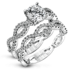 Simon G MR1596 WEDDING SET