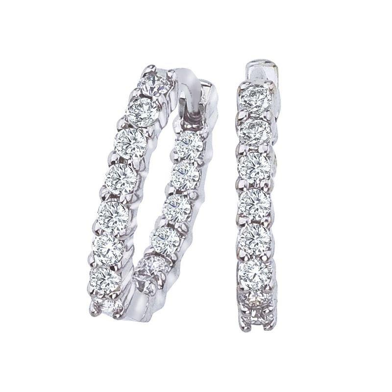 411feb918 Roberto Coin Petite Inside Outside Diamond Hoop Earrings. Stock #  001447AWERX0