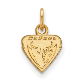 Gold-Plated Sterling Silver DePaul University NCAA Pendant