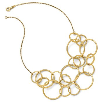 Leslie's 14k Scratch Finish Round Multi Strand Necklace