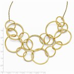 Leslie's Leslie's 14k Scratch Finish Round Multi Strand Necklace