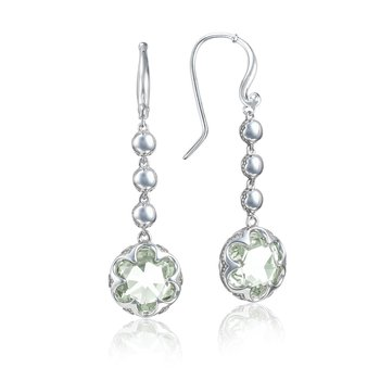 Cascading Drop Earrings featuring Prasiolite