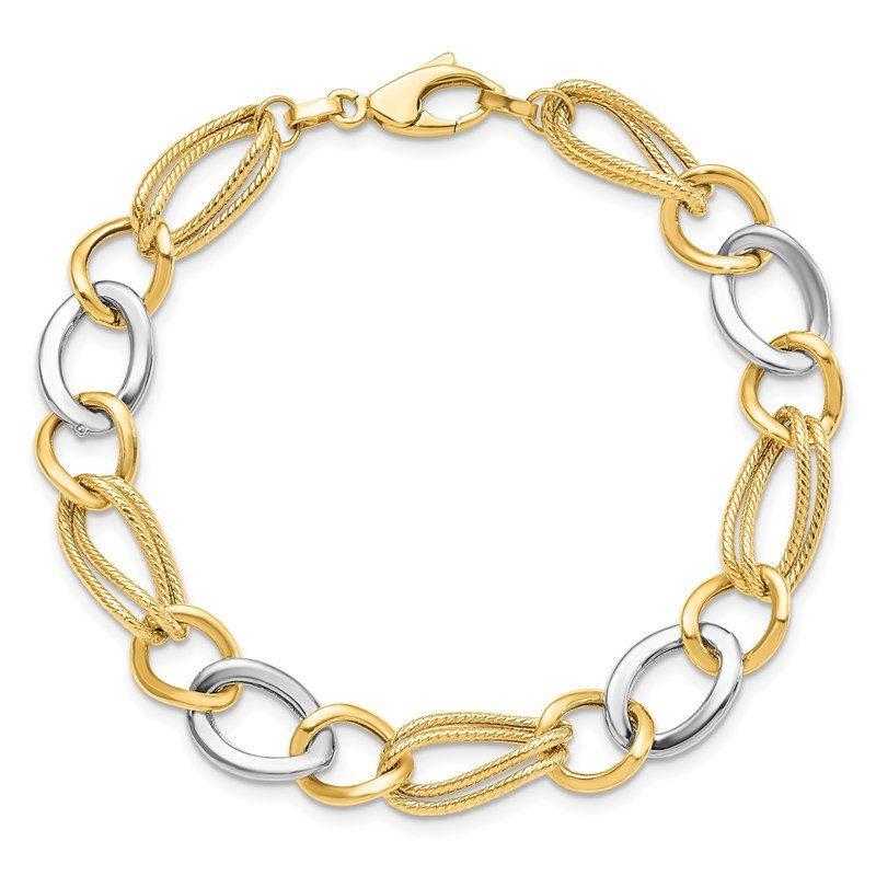Leslie's Leslie's 14K Two-Toned Fancy Bracelet