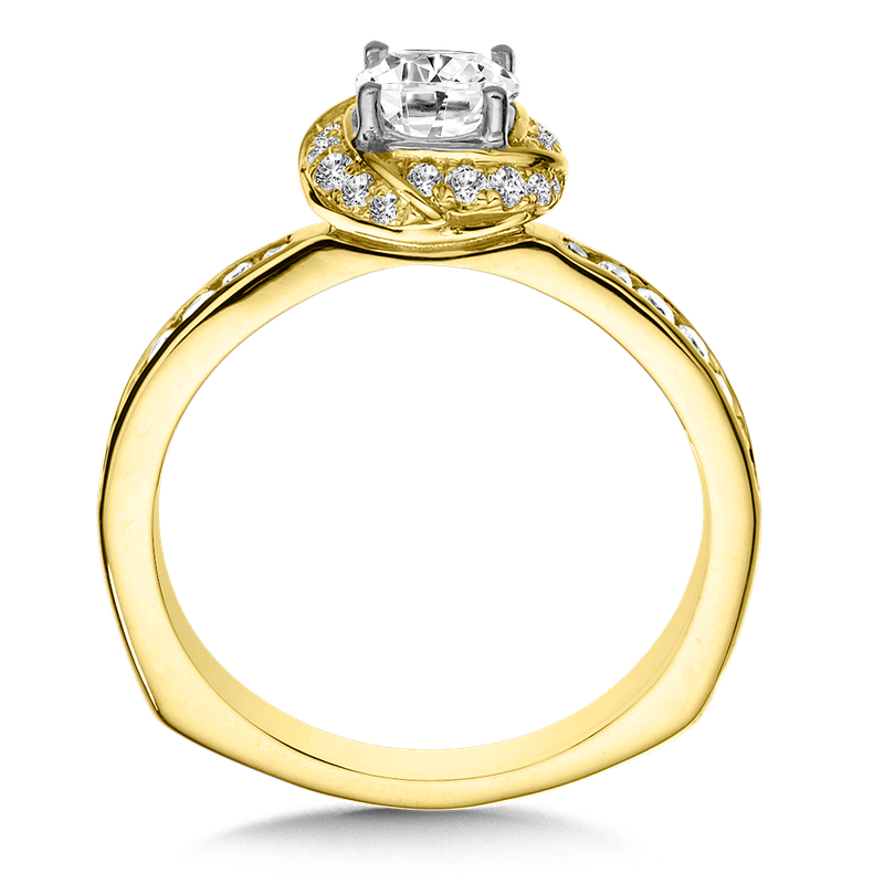 Valina Halo Engagement Ring Mounting in 14K Yellow Gold (.29 ct. tw.)