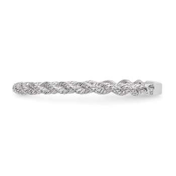 14k White Gold Polished Twisted Rope Ring