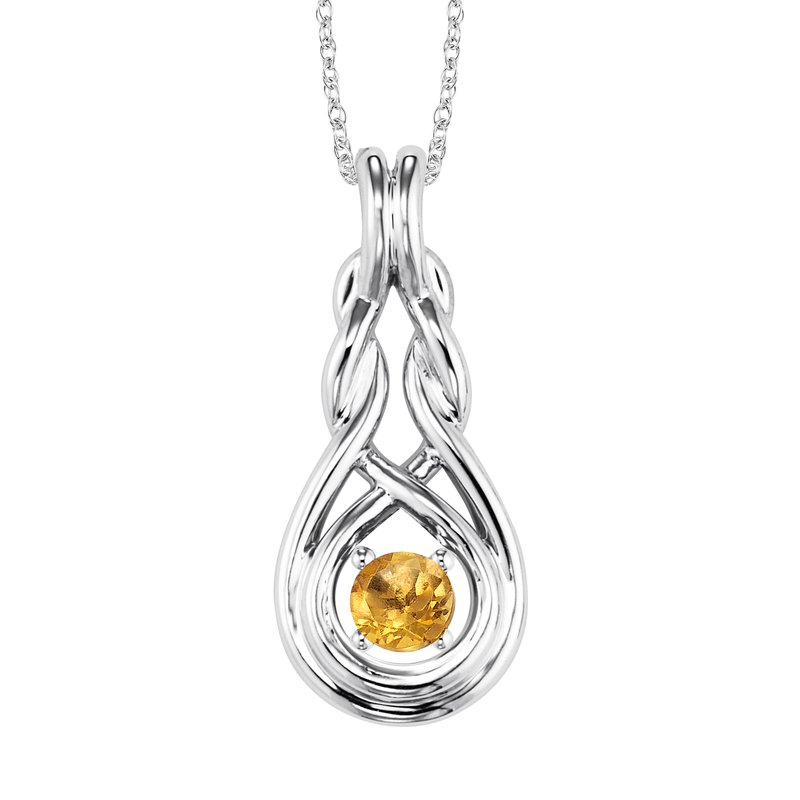 Mixables Silver Citrine Pendant  ( Available in All Birthstone )