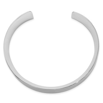 Sterling Silver Rhodium-plated Polished 20mm Cuff Bangle