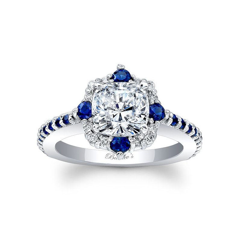 Barkev's Blue Sapphire Engagement Ring